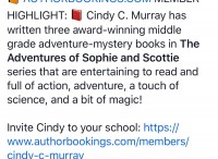 Author bookings for Cindy Murray