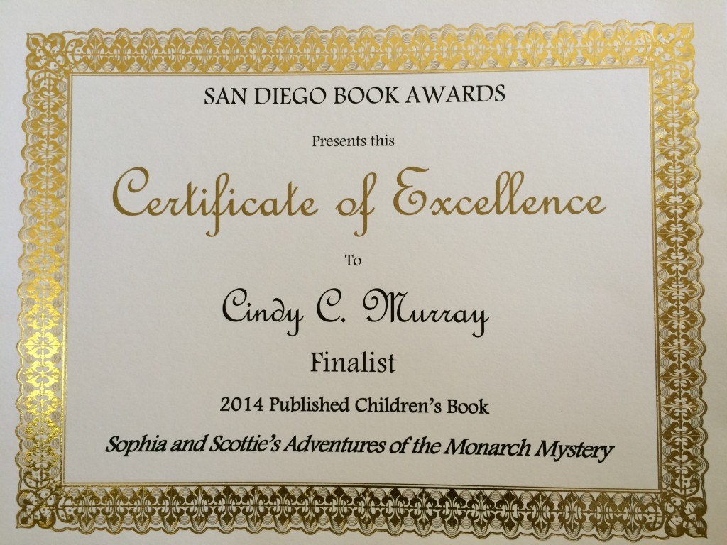San Diego Book Awards Finalist