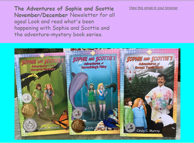 Sophie and Scottie Newsletter