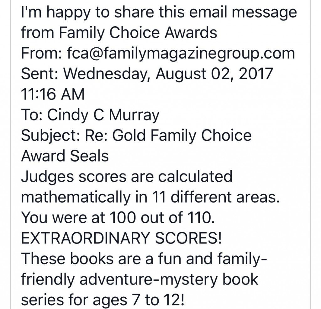Family Choice Awards give The Adventures of Sophie and Scottie a Top Score!