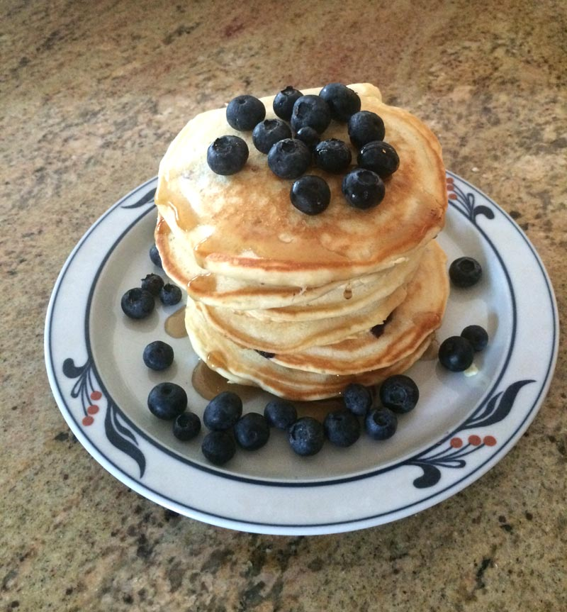 Blueberries and Pancakes – Perfect!