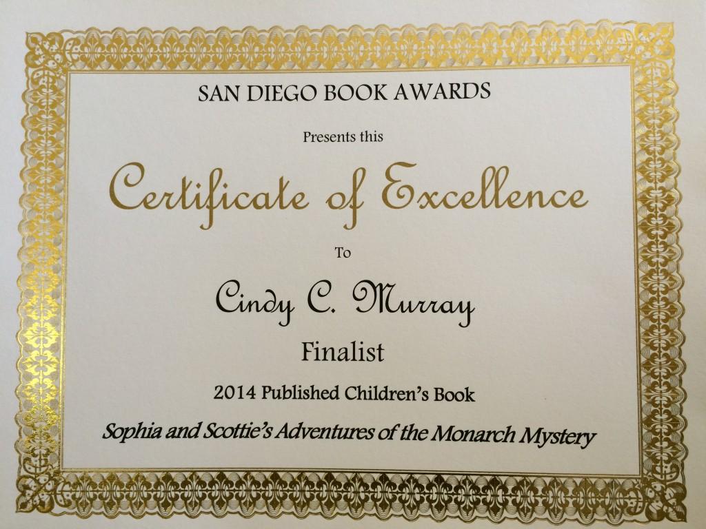 San Diego Book Awards Finalist